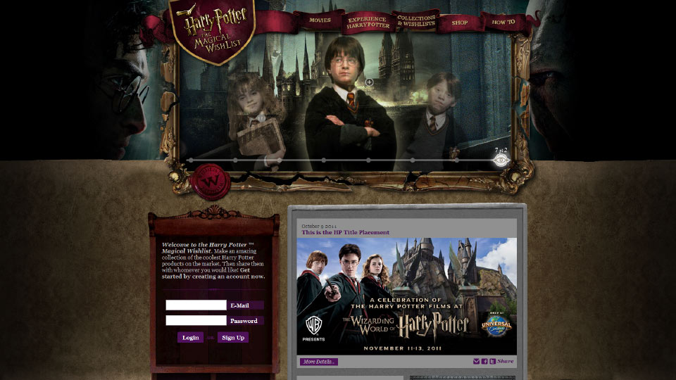 Project - Harry Potter - Original Site