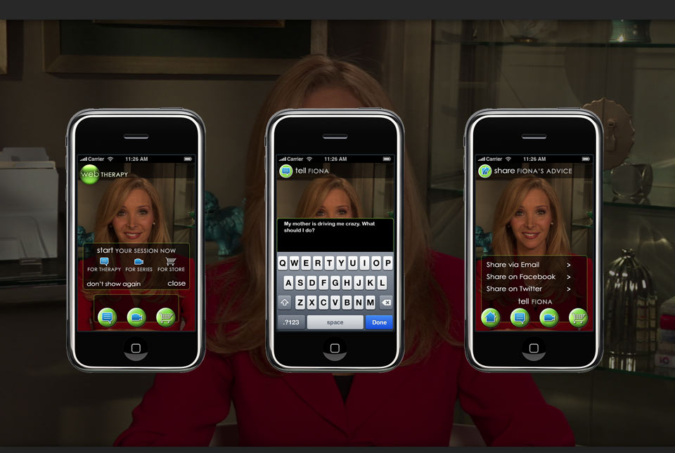 Project - Web Therapy - App Screens